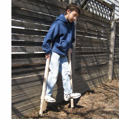 Beka Traditional Wooden Stilts - Click to enlarge