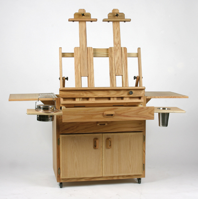 BEST Caitlin Taboret with 2 Attached Table Top Easels - Click to enlarge