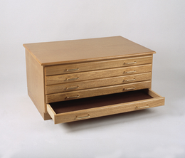 BEST Oak Art Flat File Package - 8 Drawers plus Cap & Base