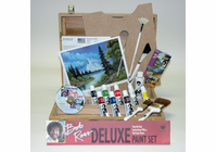 BOB ROSS DELUXE WOOD BOX SET WITH 1 HOUR DVD