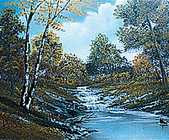 """BOB ROSS One Hour Painting Instruction Video VHS: """"Autumn Stream"""" - TBR04"""