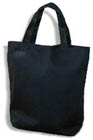 BW OPEN Tote - BLACK CANVAS, 13� x 13� x 4