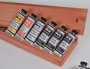 Casein Wooden Box Gift Set of 12 & Casien Brochure - Click to enlarge