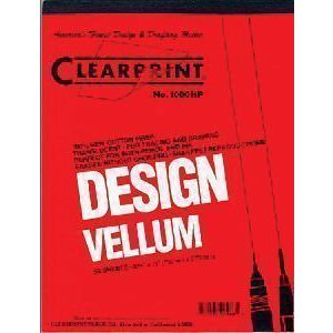 CLEARPRINT 1000H� VELLUM,16Lb,24X36,100Sht Unprinted