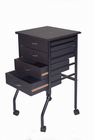 Cobalt Black Mobile Taboret