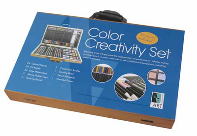 Color Creativity art supplies Set - Click to enlarge