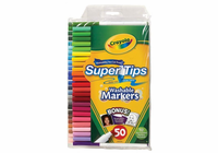 Crayola� SuperTips Washable Marker 50-Color Set