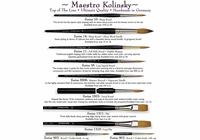 Da Vinci Maestro Kolinsky - Series 902 - Pocket Brush - Size 4 Red Sable no cap