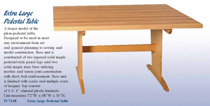 Diversified Woodcrafts Extra Large Pedestal Table - Click to enlarge