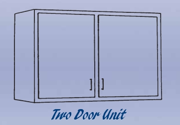 Double Door Unit - Wall Mounted Cabinet-11 Wt-90