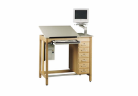 Drawing Table System with Drawers