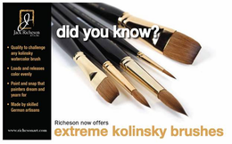 Extreme Kolinsky Flat Brushes - Series 7778 - Click to enlarge