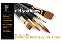 RICHESON Extreme Kolinsky Round Brushes - Series 7777