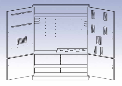 Foundry Tool Storage Cabinet with Tools
