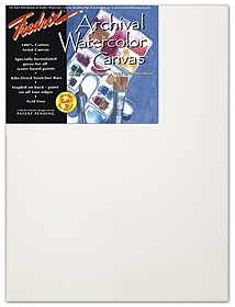 Fredrix Archival Pre-Stretched Watercolor Canvas - 12