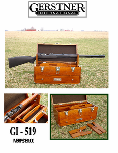 Gerstner International Range Chest - Shooters Case (with Gun Forks Included) - Click to enlarge
