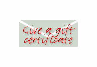 Gift Certificates VIA Email