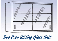 Glass Sliding Door Unit - Wall Mounted Cabinet-11