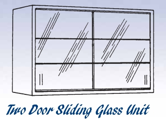Glass Sliding Door Unit - Wall Mounted Cabinet-15