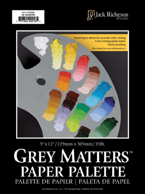 Grey Matters Palette Pad 12in. x 16in. - Click to enlarge