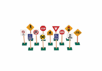 "Guidecraft 7"" Block Play Traffic Signs"