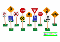 "GUIDECRAFT 7"" TRAFFIC SIGNS (13/SET)"