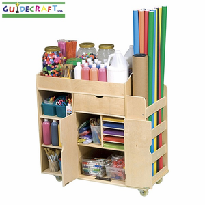 GUIDECRAFT Art Activity Cart (All Wood) - Click to enlarge