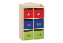 Guidecraft Bin Cubby 6 Section