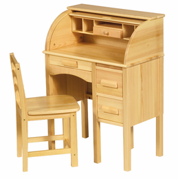 GUIDECRAFT Child's Wooden JR Roll-Top Desk (Children's Wooden Secretary Desk & Chair Set)
