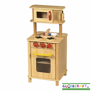 GUIDECRAFT Children's Kitchenette Center - Natural Wood - Click to enlarge