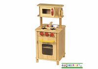 GUIDECRAFT Children's Kitchenette Center - Natural Wood