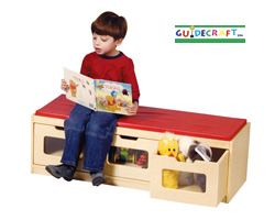 GUIDECRAFT Easy-view Storage Bench