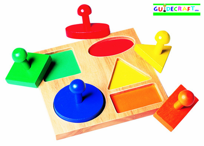 GUIDECRAFT GEOMETRIC PUZZLE BOARD