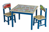 Guidecraft Moving All Around Table & Chairs Set