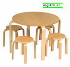 GUIDECRAFT Nordic Table & Chairs (Natural)