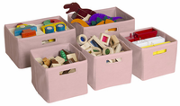 Guidecraft Pink Storage Bins-Set of 5
