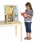 Guidecraft Rotating Book Display 2 Tier