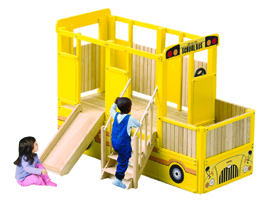 GUIDECRAFT School Bus Loft Playhouse - Click to enlarge