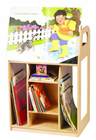 GUIDECRAFT WOOD BOOK TROLLEY (with Casters)