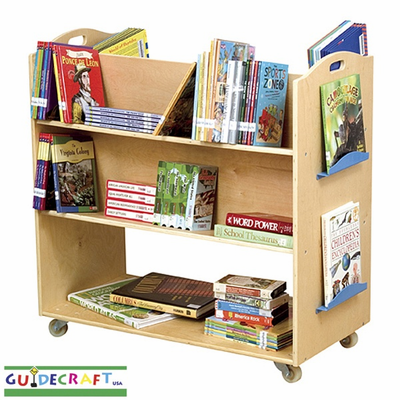 GUIDECRAFT Wooden School Library Cart - Click to enlarge