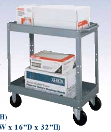 Heavy-Duty Service Cart w/ extra shelf