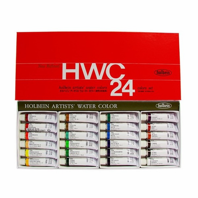Holbein ARTIST WATERCOLOR SET OF 24 - 5ml - Click to enlarge