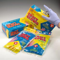 HYGLOSS Colored Craft Gloves (Box of 100) - Click to enlarge