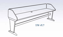 In-Line Panel Leg Workstation