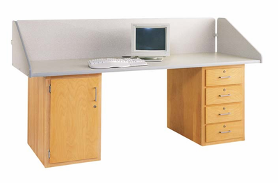 In-Line Two Base Workstation-24 Wt-190/215