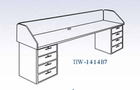 In-Line Two Base Workstation-24 Wt-230/215