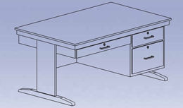 Instructor's Desk - fixed flat