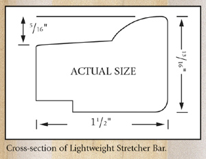 Jack Richeson & Co. Inc. Lightweight Stretcher Bar, 12""