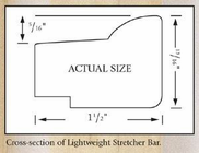 Jack Richeson & Co. Inc. Lightweight Stretcher Bar, 14""