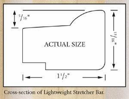 Jack Richeson & Co. Inc. Lightweight Stretcher Bar, 16""